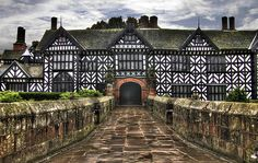 Speke Hall House One of the most famous half-timbered houses in the country, dating from The unique and atmospheric interior spans many periods: the Great Hall and priest holes evoke Tudor times, while the Oak Parlour and smaller rooms, some with Wi William Morris Wallpaper, Morris Wallpapers, Charles Viii, English Manor Houses, English Country Houses, English Countryside, Liverpool Home, Liverpool England, Shetland