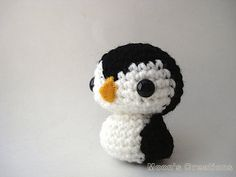 Amigurumi Penguin Doll with Keychain or Ornament by MoonsCreations