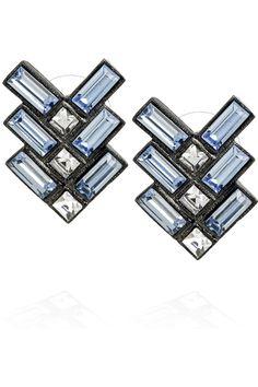 $115.00 #earrings #blue #Swarovski #crystal #jewelry
