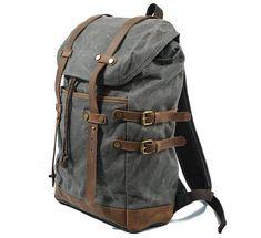 Handmade bag backpack canvas canvas rucksack blue backpack