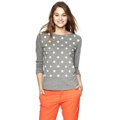 Gap Exclusive Gap + Clu Polka Dot T ($40) ❤ liked on Polyvore