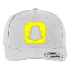 715e0154a94 Snapchat Logo Brushed Embroidered Cotton Twill Hat