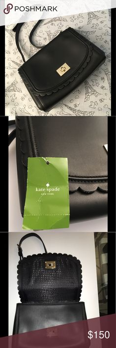 🆕NWT♠️Kate Spade ♠️Maple Court Jazmin bag NWT Kate Spade Maple Court Jazmin shoulder bag in black. New with tags, never been used. Shoulder strap is adjustable, I show it at its longest (pic #6). There is a main inner pocket that zips with 2 smaller inner pockets on the other side.🚫sorry no trades🚫 kate spade Bags Shoulder Bags