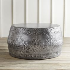 Avan Round Silver Coffee Table