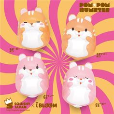 kawaii eyes open orange hamster animal scented squishy by iBloom 3