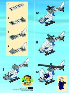View Lego Instructions For Police Helicopter Set Number 30226 To Help You Build These Sets