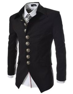 TheLees Mens Casual Slim 8 Button Jacket Blazer