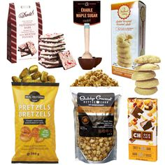 Healthy Gourmet Gifts - Snacks on the Run Gourmet - All Canadian NEW!, $57.00 (http://www.healthygourmetgifts.com/gourmet-snacks-chocolates-dips-natural-gift-basket/)