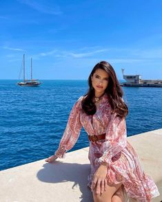 """Travel Luxury Fashion Beauty on Instagram: """"Here comes the Sun 🌞💙💗Dress for the occasion: @karen_millen of course!"""" Fashion Beauty, Luxury Fashion, Karen Millen, Luxury Travel, Cover Up, Bohemian, Sun, Instagram, Dresses"""