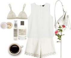 """""""inspired outfit for breakfast with a friend in summer"""" by hayleycarbran ❤ liked on Polyvore"""