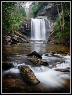 Looking Glass Falls in Pisgah Forest near Brevard, NC