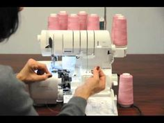 SERGER MACHINES, TECHNIQUES, EXAMPLES OF RESULTS AND IDEAS..............PC...............Alternate Threading Methods for Babylock sergers.