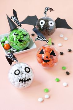 DIY Halloween candy baubles