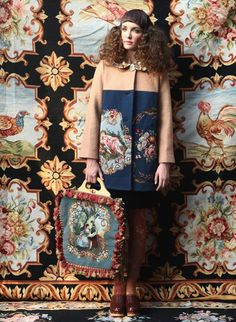 Unlogical poem - tapestry coat and bag a/w 2012