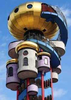 The Kuchlbauer Tower (German: Kuchlbauer-Turm) is an observation tower designed by Austrian architect Friedensreich Hundertwasser on the grounds of the Kuchlbauer Brewery in Abensberg, a town in Lower Bavaria in Germany.