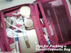 Top tips to pack (and stock) a travel cosmetic bag. Click through for the details!