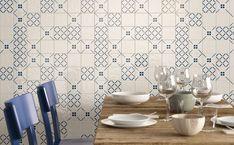OBKLADY DO KUCHYNE - Dizajnové kuchynské obklady / BENEVA Blue Color Combinations, Eclectic Modern, Ceramic Wall Tiles, Classic White, Double Vanity, Pottery, Ceramics, Traditional, Contemporary