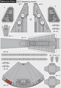 Millennium Falcon Page 4 of 8 Cardboard Model, Cardboard Toys, Nave Star Wars, Star Wars Art, Paper Crafts Origami, 3d Paper, Star Wars Origami, Star Wars Crafts, Star Wars Halloween