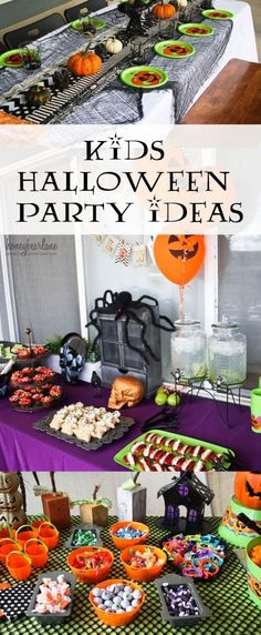 Get some great kids Halloween party ideas for food and decor.