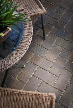 Belgard Aqua Roc is a permeable paver that offers an open-graded stone base allowing for the easy passage of rainwater. The joints of each Aqua Roc stone actually filter the water as it flows through, resulting in cleaner water and fewer pollutants. Backyard Patio Designs, Backyard Projects, Outdoor Projects, Patio Ideas, Yard Ideas, Outdoor Ideas, Outdoor Living Rooms, Living Spaces, Outdoor Spaces
