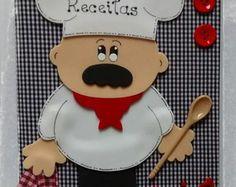 Caderno de receitas Chef de Cozinha