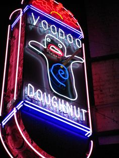 Voodoo Doughnut in Portland, OR! I've been to Portland before and I really wanna visit again to have a bacon maple bar from these guys!