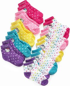 You can never have enough socks.  Hello Kitty Kids Socks, Little Girls 5 Pack Anklet Socks - Kids Girls 2-6X - Macy's $8.98 #MacysBTS