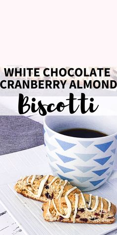 With the irresistible combination of sweet white chocolate, buttery almond and tart cranberries, everyone will want to try these yummy White Chocolate Cranberry Almond Biscotti cookies! Cranberry Almond Biscotti, Almond Biscotti Recipe, Skinny Vanilla Latte, Delicious Desserts, Dessert Recipes, Biscotti Cookies, Sliced Almonds, White Chocolate Chips, Cranberries