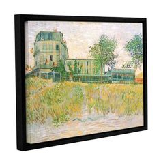 ArtWall The Restaurant De La Sirene, Asnieres by Vincent Van Gogh Framed Painting Print on Wrapped Canvas Size: