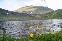 Mountain lake, Skarsfjället, Härjedalen, Sweden. Vacker sjö mellan topparna på ca 1200 m.ö.h.