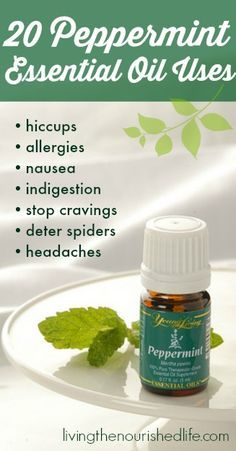 20 Peppermint Essential Oil Uses...I do not consider myself a trendsetter BUT I have been using essential oils as remedies for about 5 years now and they truly do work!