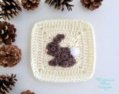 Woodland Bunny Granny Square - Woodland Afghan Series - Maria's Blue Crayon