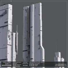 #StarCitizenSpaceshipsGoogle Cyberpunk City, Futuristic City, Futuristic Architecture, Environment Concept Art, Environment Design, Architecture Concept Drawings, City Buildings, Brutalist, Building Design