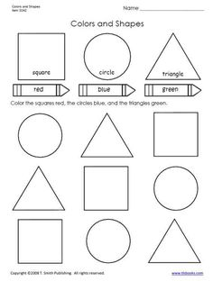 Colors and Shapes worksheet from tlsbooks.com