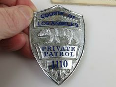 Private Patrol, County of Los Angels (Entenmann-Rovin) Security Badge, Law Enforcement Badges, Police, Patches, Angels, Decorations, Women, Women's, Deko
