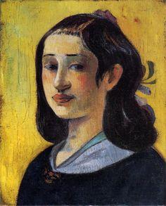 The Athenaeum - Portrait of Aline Gauguin (Paul Gauguin - )