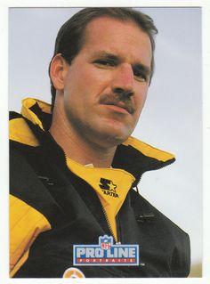 Bill Cowher RC # 414 - 1992 Pro Line Profiles Football - Portraits NFL Rookie