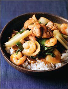 Shrimp & Chicken Ankake Donburi   Global Chefs