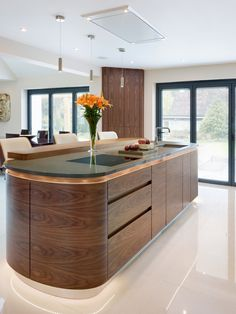 Warwick, Walnut and Painted Modern style Kitchen - Kitchen Products