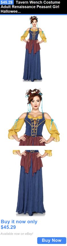 Halloween Costumes Women: Tavern Wench Costume Adult Renaissance Peasant Girl Halloween Fancy Dress BUY IT NOW ONLY: $45.29