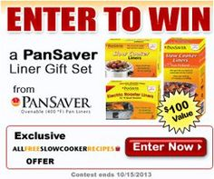 Enter to #win this PanSaver Liner Gift Set Giveaway from PanSaver on AllFreeSlowCookerRecipes.com.