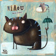 Miaou! Merde il pleut !