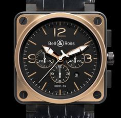 Bell & Ross Rose Gold & Carbon Officer