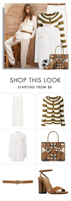 """""""Neutral colors style"""" by breathing-style ❤ liked on Polyvore featuring Twin-Set, Equipment, MICHAEL Michael Kors, M&Co and EGREY"""