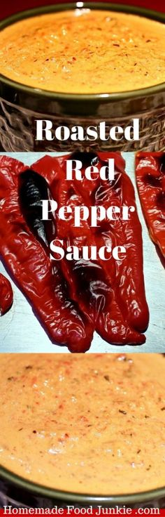 Roasted Pepper Sauce by HomemadeFoodJunkie.com