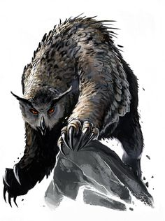 Mythic Owlbear by BenWootten.deviantart.com on @deviantART
