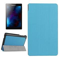 For+Lenovo+Tab+2+Karst+Texture+Blue+Flip+Leather+Case+with+3+Folding+Holder