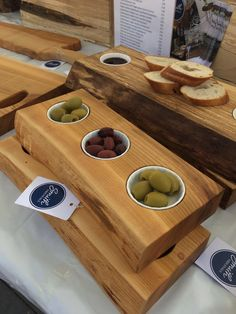 Beautiful live edge cherry hors d'oeuvres / appetiser / canapés serving board