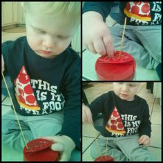 Learning To Be a Mom: Spaghetti Noodle Motor Skills Play