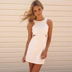 Cariole Cut Out Dress #little #white #dress